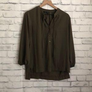 Moa Moa deep green blouse